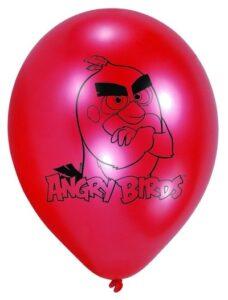 Confezione 6 palloncini in lattice Angry Birds Movie