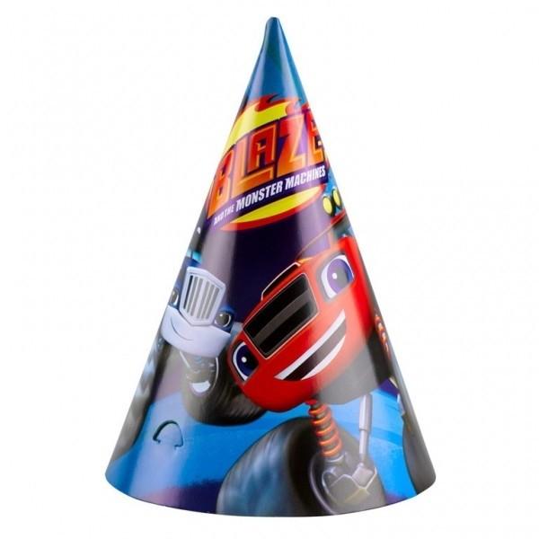 Cappellini conici festa Blaze e le Mega Macchine