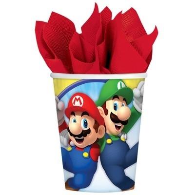 Bicchieri per festa Super Mario