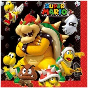 Tovaglioli per festa Super Mario 20 pz