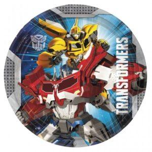 Piatti festa Transformers 8pz