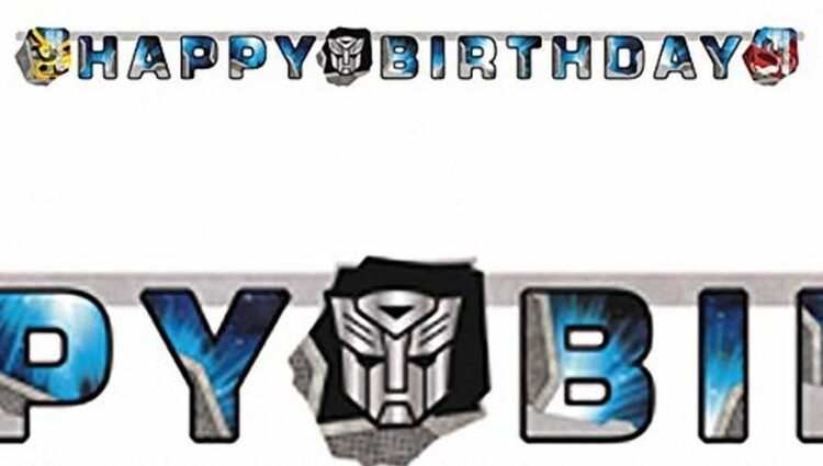 Festone Happy Birthday Transformers