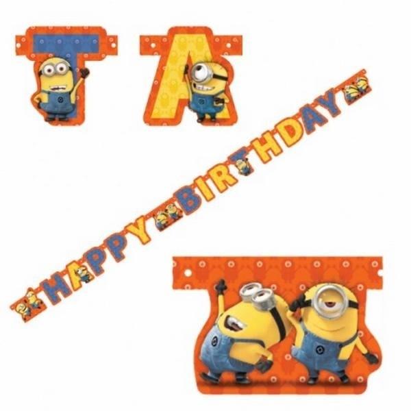 Festone Happy Birthday Minions Cattivissimo Me