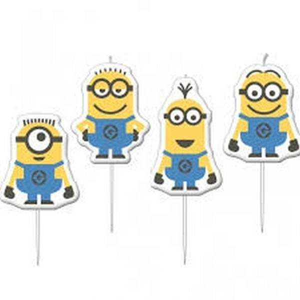 Mini candeline torta Minions Cattivissimo Me