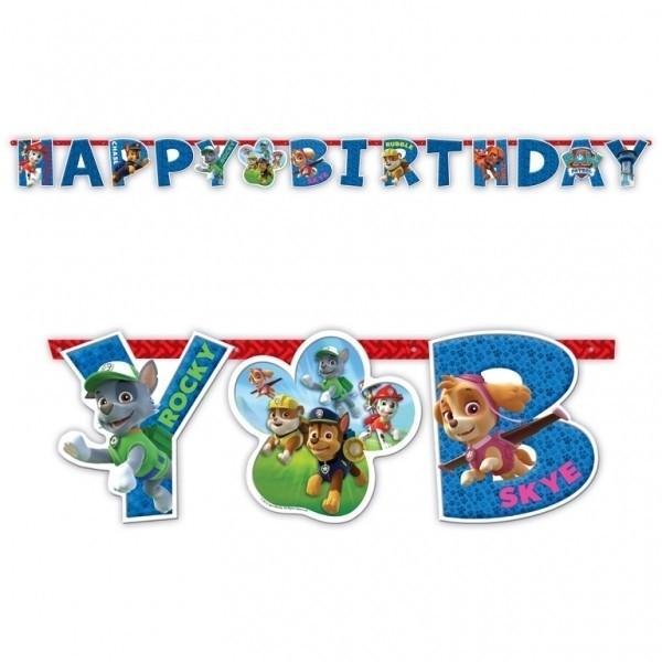 Festone Happy Birthday Paw Patrol