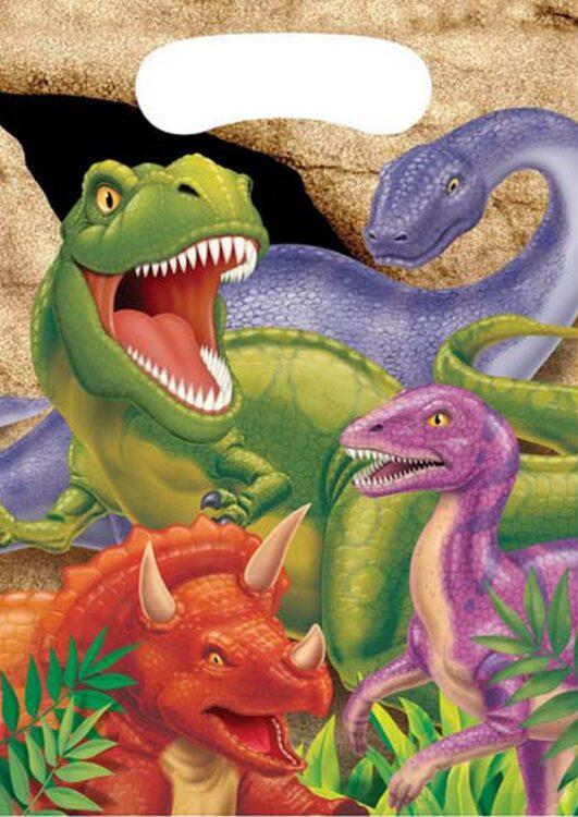 Confezione party bags Dinosauri 8pz