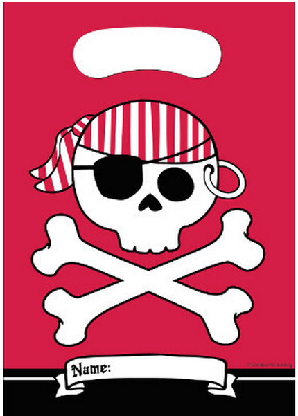 Confezione party bags Jolly Roger 8pz