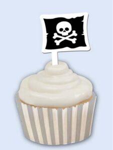 Set pirottini laminati per cupcakes Jolly Roger