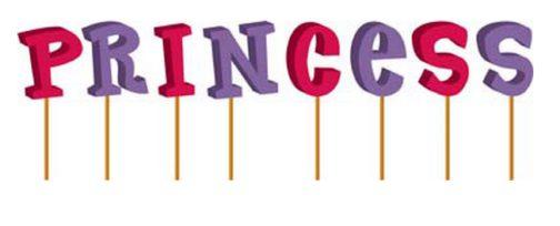 Set 8 candeline Princess