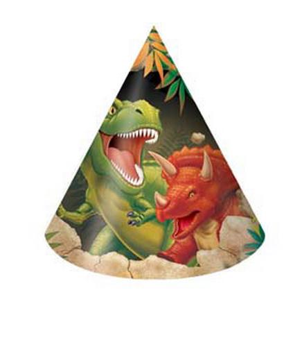 Cappellini per festa Dinosauri 8pz