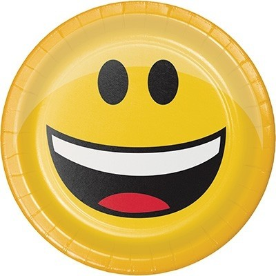 Piatti dessert Emoji 18 cm