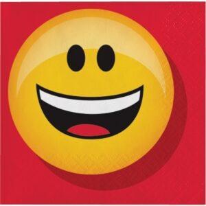 Confezione 16 tovagliolini festa a tema Emoji