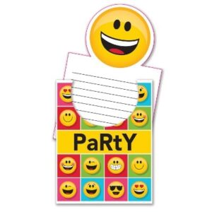 Inviti pop up Emoji 8 pz