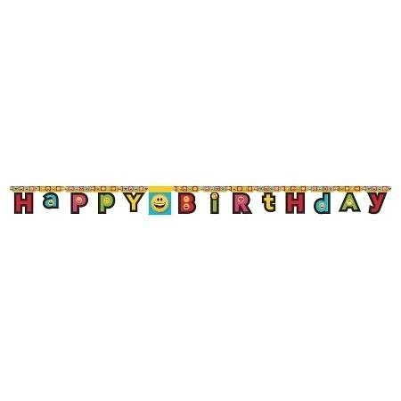 Festone snodabile Emoji- Festone Happy Birthday