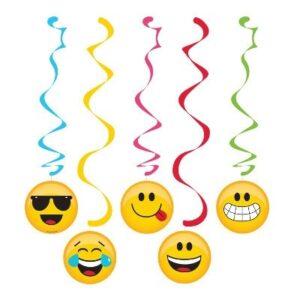 Decorazioni pendenti Emoji 5 pz