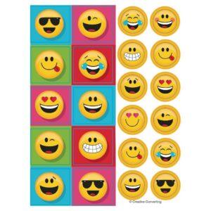 Emoji - Confezione 4 fogli di Stickers