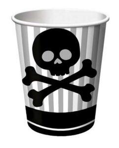 Bicchieri festa Jolly Roger Pirati