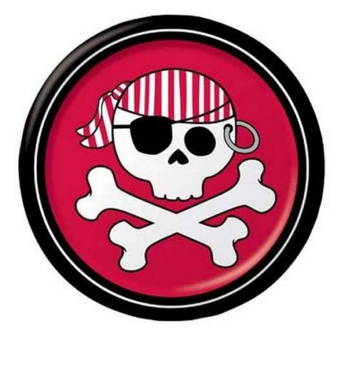 Piatti dessert Jolly Roger Pirati