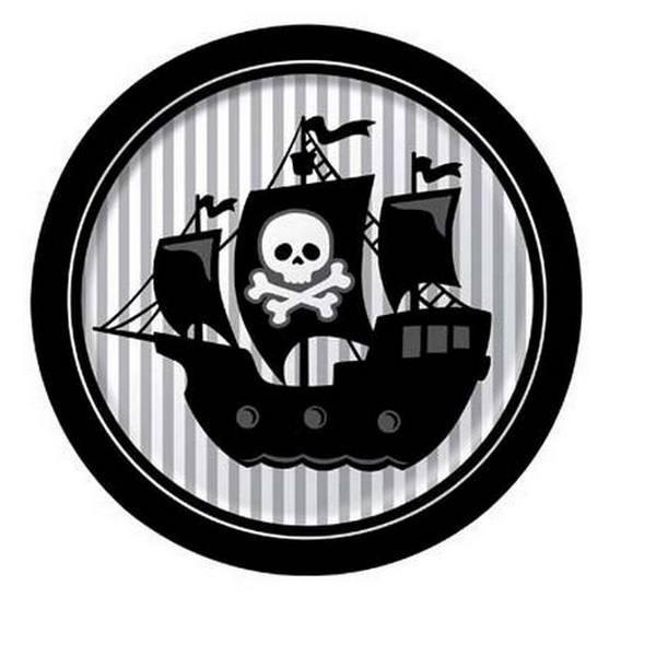 Piatti festa Jolly Roger Pirati