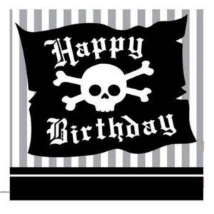 Tovaglioli festa Jolly Roger Pirati