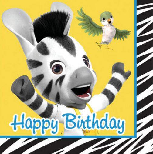 Tovaglioli festa Happy Birthday Zou 16pz