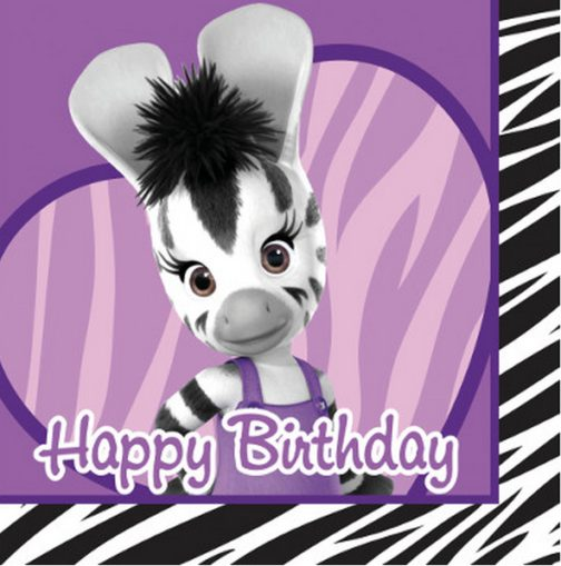Tovaglioli festa Happy Birthday Elzee Zou 16pz