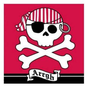 Tovaglioli festa Pirati Arrgh