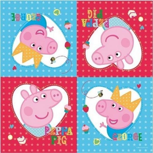 Tovaglioli per festa Peppa Pig, New Design!