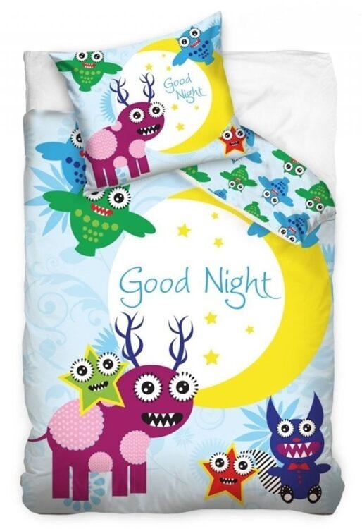 "Parure copripiumino singolo ""Goodnight"" Little Monsters"