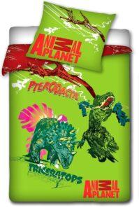 Parure Copripiumino Singolo Animal Planet Dinosauri