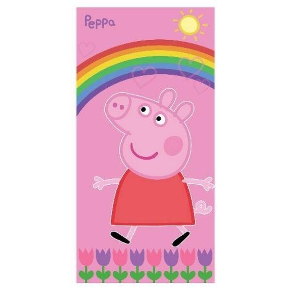Asciugamano Telo Mare Peppa Pig Arcobaleno
