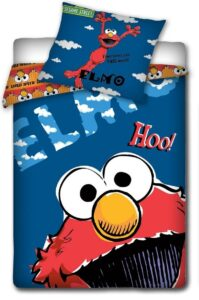 Parure Copripiumino Singolo Elmo Sesame Street