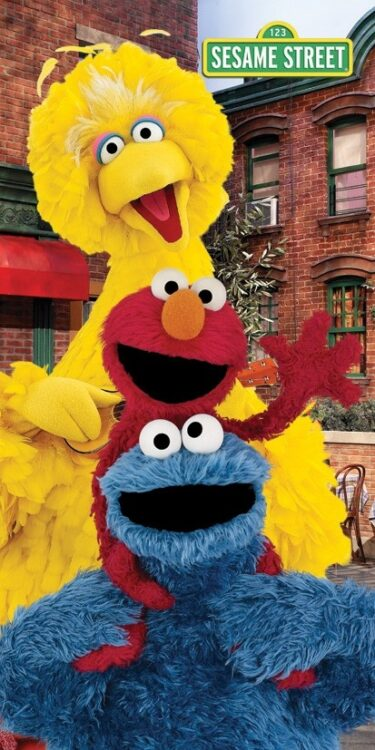 Asciugamano telo mare Sesame Street
