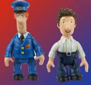 Set 2 personaggi Pat il Postino - Pat e Ben
