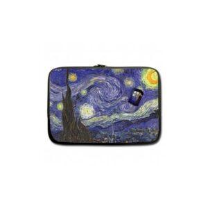 Borsa MacBook Pro 13 Tardis in Starry Night