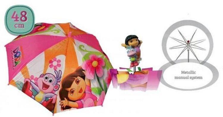 Ombrello Dora l'Esploratrice con manico 3D