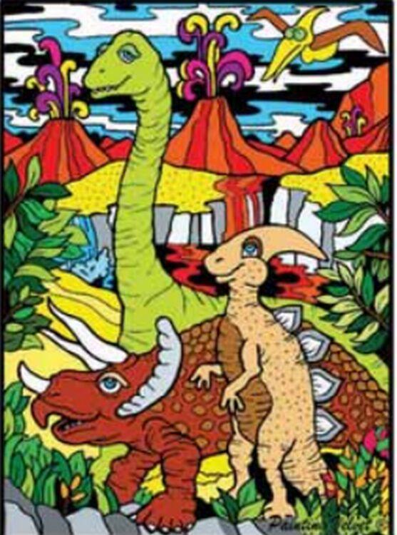 Tavola Colorvelvet Dinosauri Medium