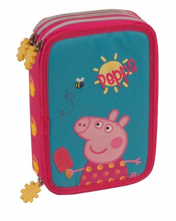 Astuccio triplo completo Peppa Pig Lolly Ice