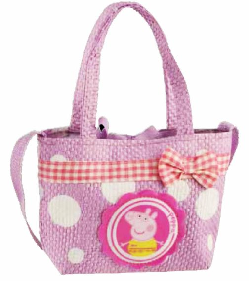 Borsa in rafia Peppa Pig