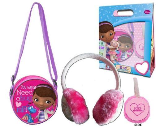 Set regalo borsetta e paraorecchie Dottoressa Peluche