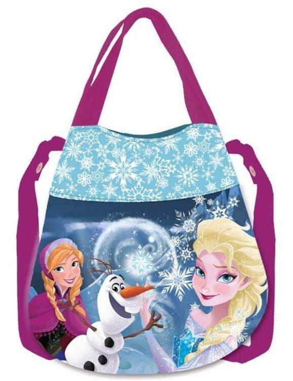 Borsetta secchiello Disney Frozen Blu