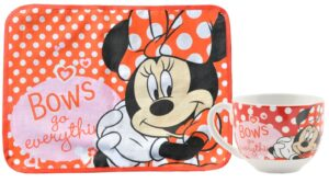 Set colazione tovaglietta e tazza Disney Minnie