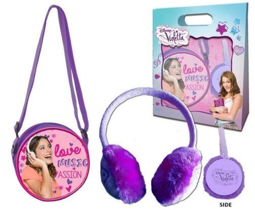 Set regalo borsetta e paraorecchie Violetta Disney