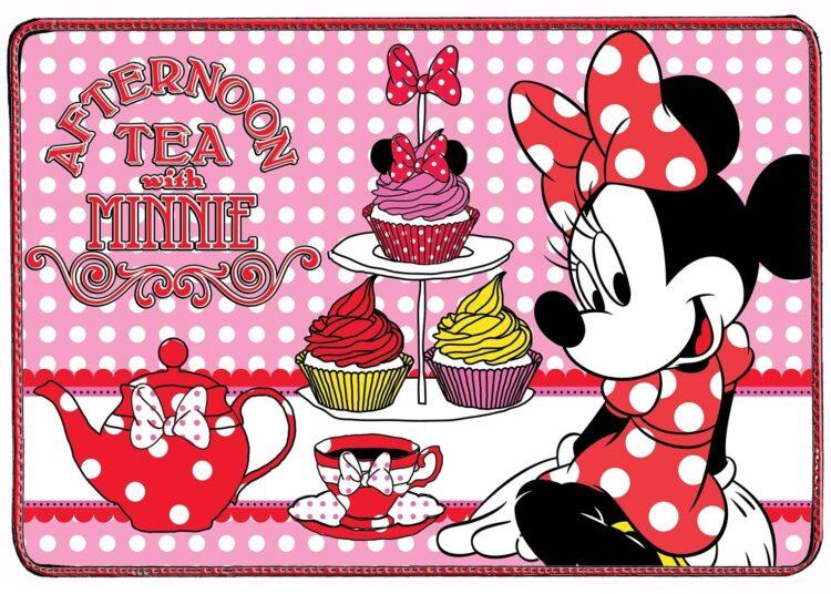 "Tovaglietta americana in cotone Disney Minnie ""Afternoon Tea"""