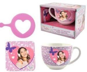 Set colazione tazza e accessori Violetta
