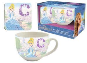Set regalo tazza jumbo e sottotazza Principesse Disney Cenerentola