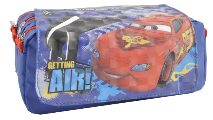 Astuccio 3 scomparti Disney Cars