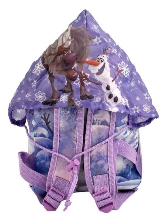 Zaino asilo Disney Frozen con cappuccio impermeabile