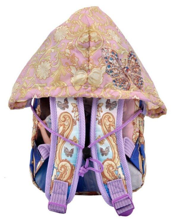 Zainetto asilo Disney Cinderella con cappuccio impermeabile