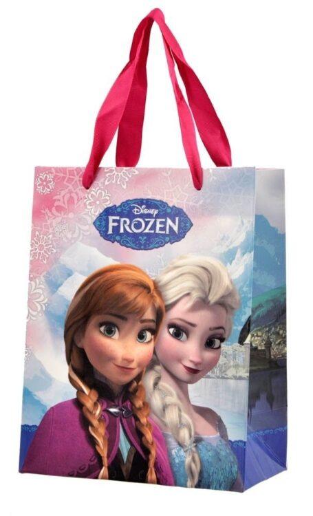 Guantini a righe con bustina regalo Disney Frozen